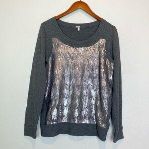 J.Crew Sequined Knit Sweater Sweatshirt Sz M
